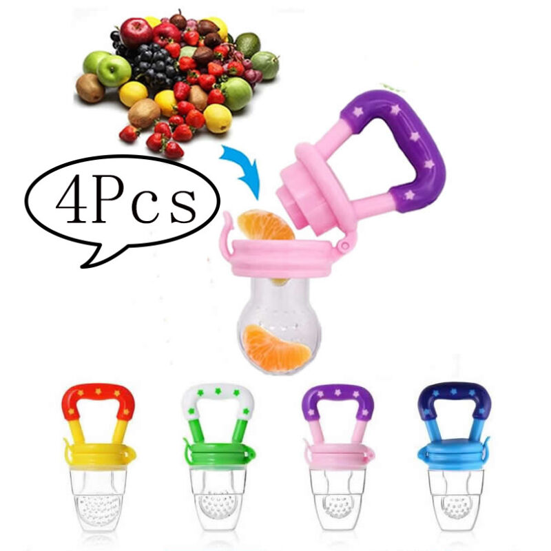 Silicone Fresh Fruit Teether Soother Nibbler Baby Feeder Pacifier Food Feeding