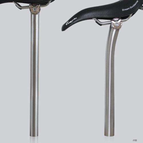 Titanium MTB Bicycle Bike Ti Setback Seatpost 27.2/ 30.9/31.6 * 350/400 mm