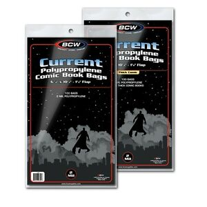 FIRE-300-BCW-Current-Clear-Comic-Book-Bags-Sleeves