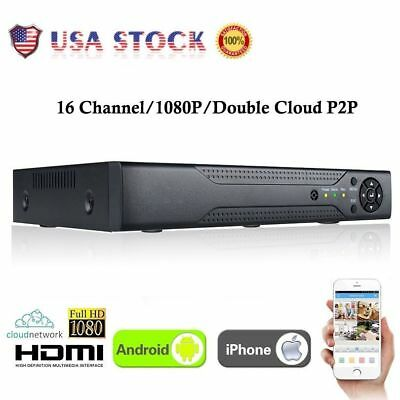 XVR 16CH Channel CCTV Video Recorder 1080P Hybrid NVR AHD TVI CVI DVR 5-in-1 USA