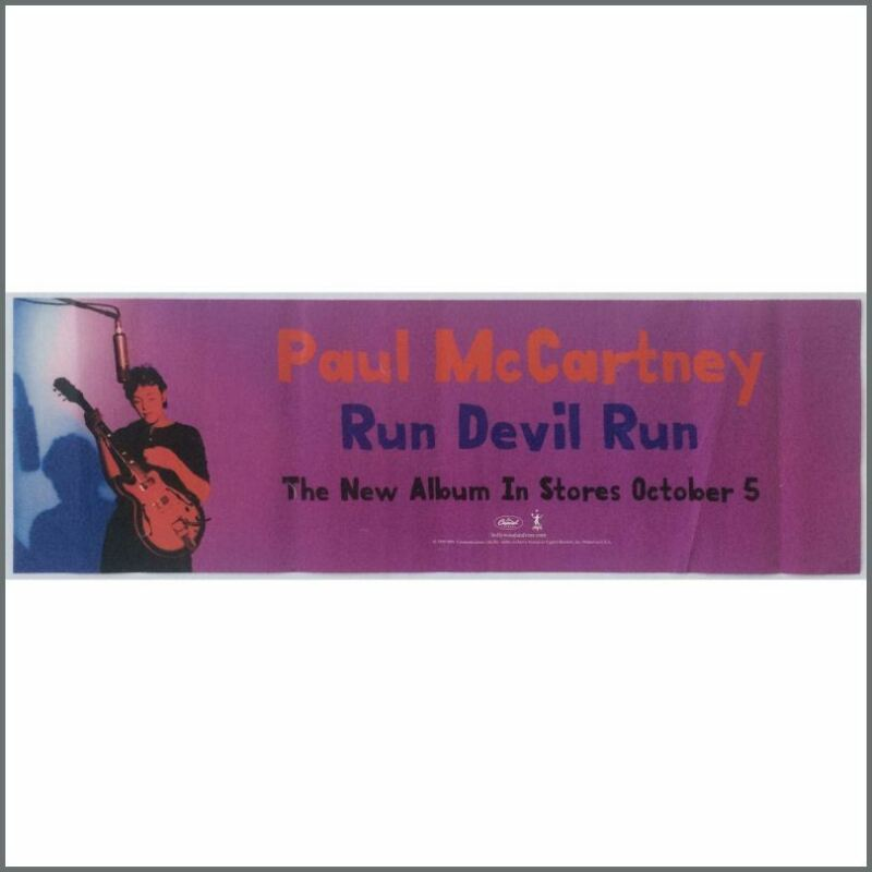 Paul McCartney 1999 Run Devil Run Promotional Poster (USA)
