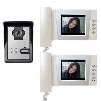 "4.3"" Moniton Video Doorbell Door Phone system Home Visual intercom 2-screen"