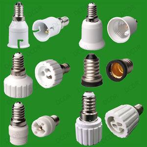 ses e14 small edison screw light socket lamp adaptor to e27 ces mr16 gu10 g9 ebay. Black Bedroom Furniture Sets. Home Design Ideas