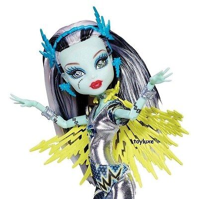 Monster High FRANKIE Voltageous Power Ghouls SUPER HERO Comic EXCLUSIVE Doll NEW - Super Monster High