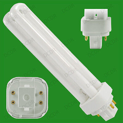 1x 26W G24q-3, 4 pin, 3500K Low Energy CFL Light Bulb PL PLC White Lamp for sale  Shipping to Ireland