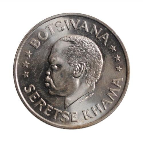 """Botswana 50 cents 1966, BU, """"Independence"""""""