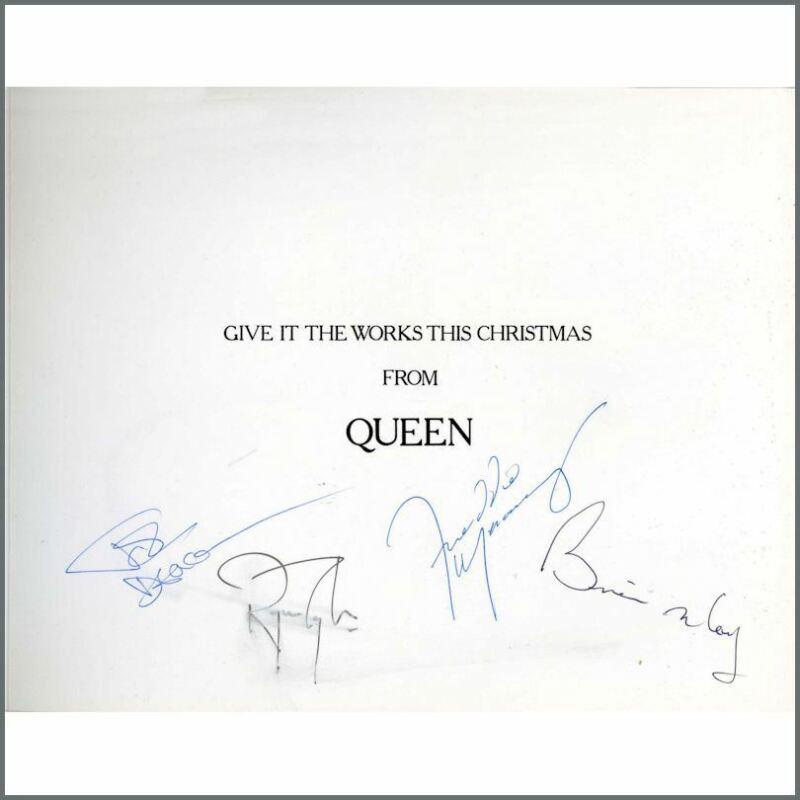 Queen 1984 Autographed Works Tour Christmas Card (UK)