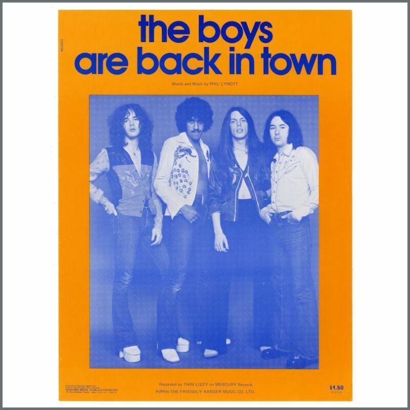 Thin Lizzy 1976 The Boys Are Back In Town Sheet Music (USA)