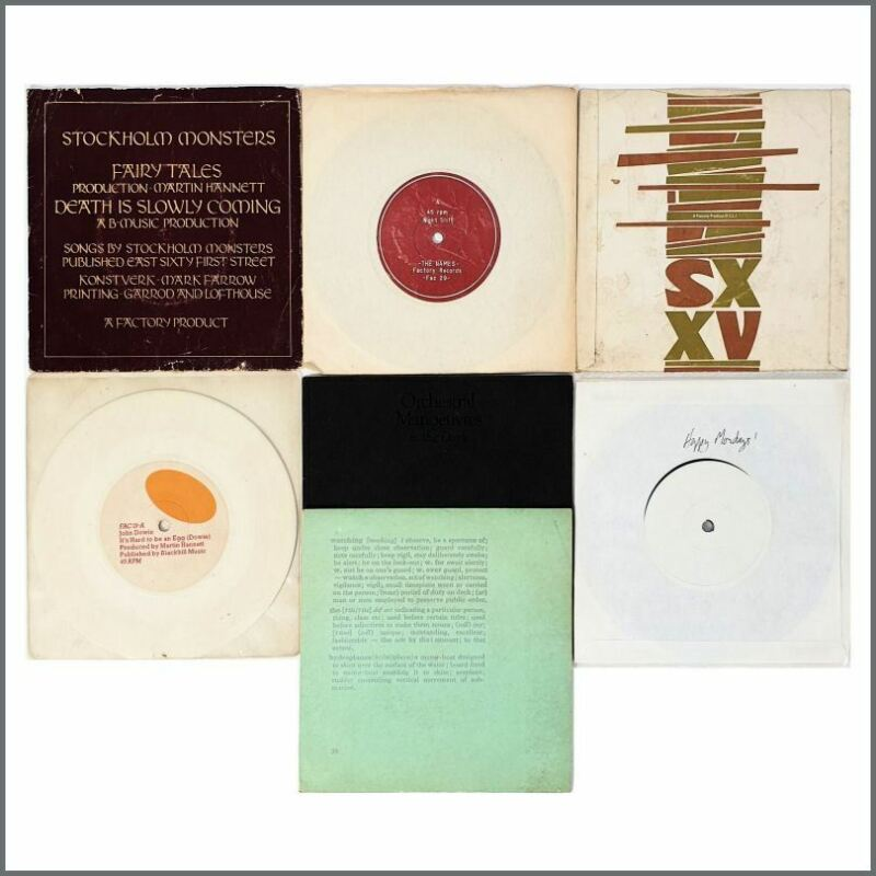 Factory Records Peter Hook 1980s 7 Inch Records & Test Pressings (UK)