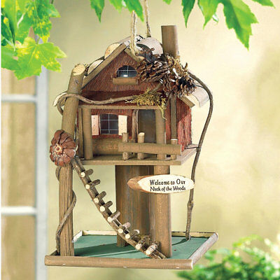 Log Cabin Treehouse Bird House