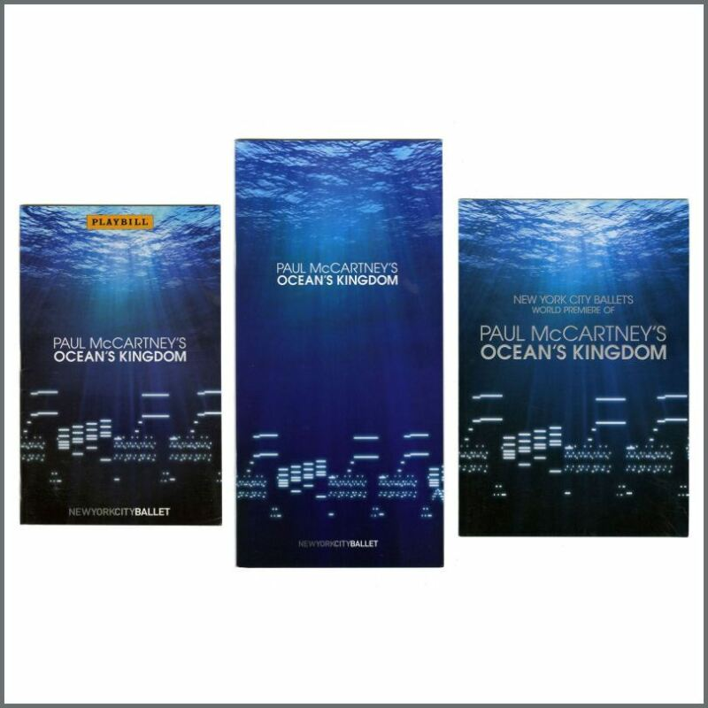 Paul McCartney 2011 Ocean's Kingdom Souvenir Booklets (USA)