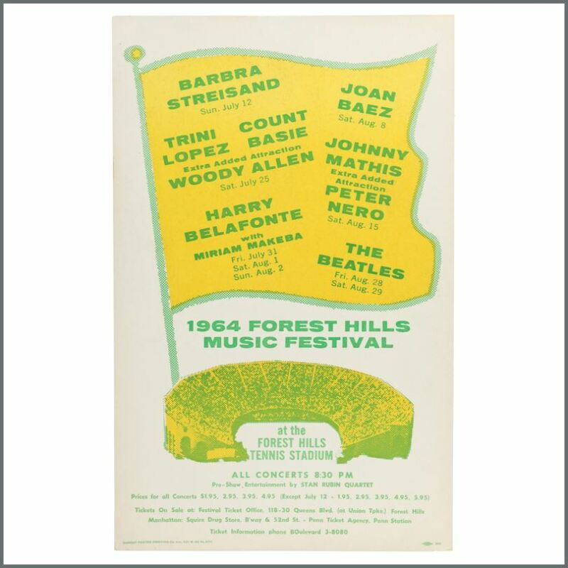 The Beatles 1964 Forest Hills Music Festival Concert Poster (USA)