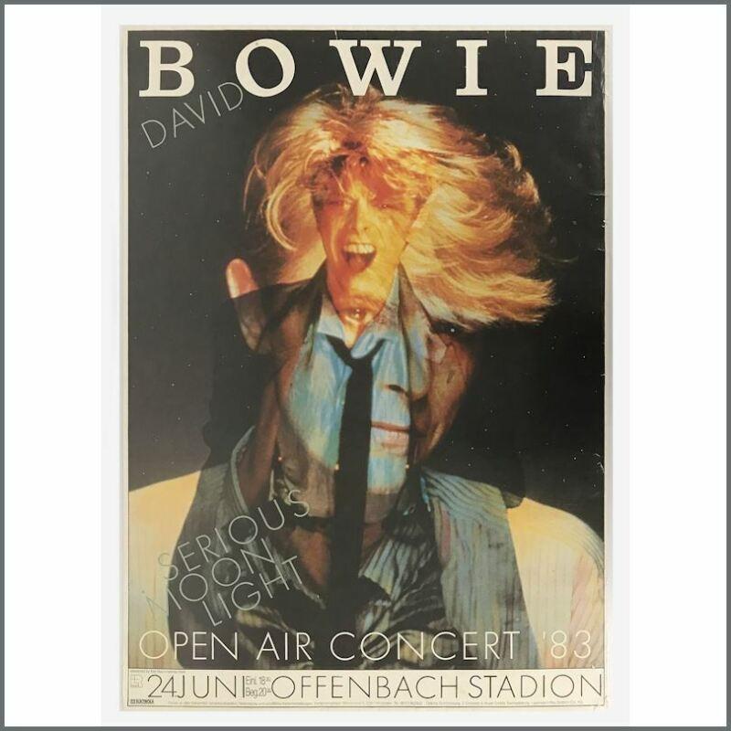 David Bowie 1983 Serious Moonlight Tour Offenbach Stadium Concert Poster (Ger)