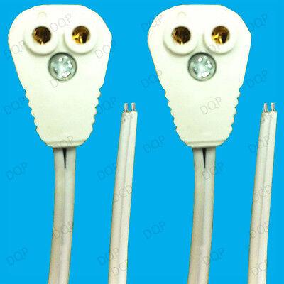 4x T5 Fluorescente & LED Tubo Portalámparas Enchufe Accesorios, 58cm Cables (G5