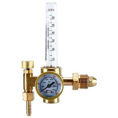 Top Argon Co2 Mig Tig Flow Meter Welding Weld Regulator Gauge Gas Welder Cga580