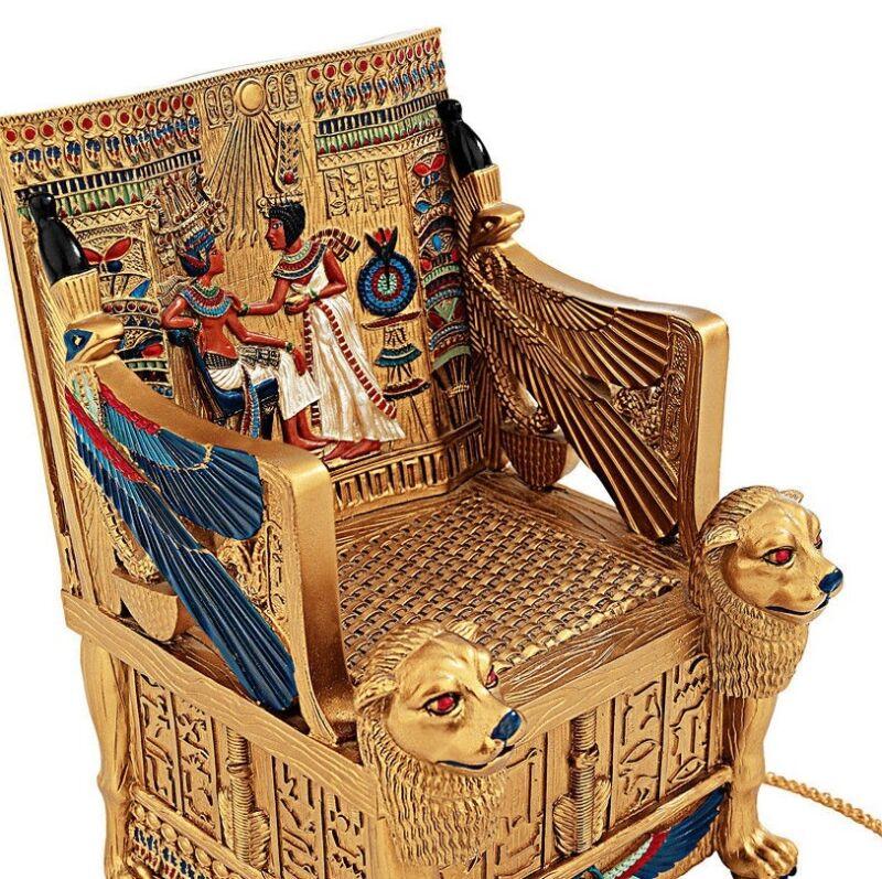 ANCIENT EGYPTIAN KING TUTS HIDDEN TREASURE TRINKET BOX
