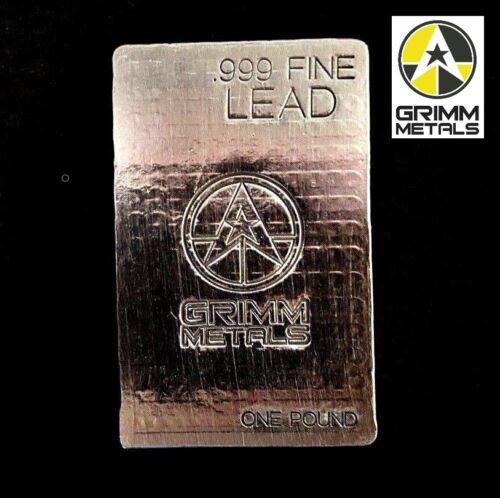 1 Pound .999 Fine Lead Bullion Stacker Bar - Hand Poured - Hand Stamped