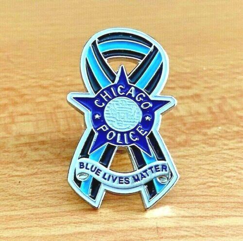 "Chicago Police ""Blue Lives Matter"" Pin"