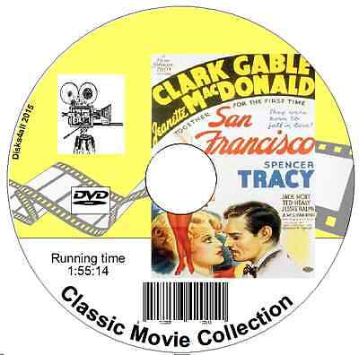 1936 Clark Gable (San Francisco - Clark Gable, Jeanette MacDonald, Spencer Tracy Musical 1936 DVD)