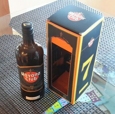 Havana Club Añejo 7 Años 1000cl 1L - Empty Bottle and box