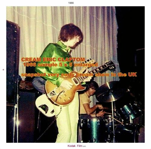 CREAM ERIC CLAPTON 1966 PHOTOGRAPH jamming with 2 players in 1968. New Info