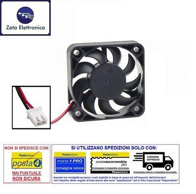 VENTOLA 12V DC DI RAFFREDDAMENTO 50 x 50 mm (5 x 5 cm) PER STAMPANTE 3D CPU ECC