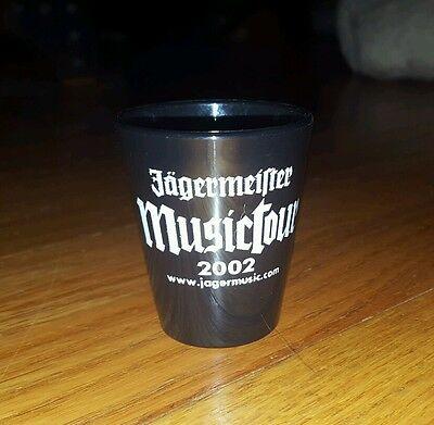 JAGERMEISTER MUSIC TOUR 2002  (Black/Dark Blue) Hard Plastic Shot Glass