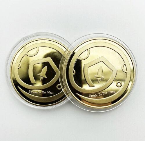 🔥1pc Safemoon Physical Collectible Crypto Metal Coin Commemorative USA Seller