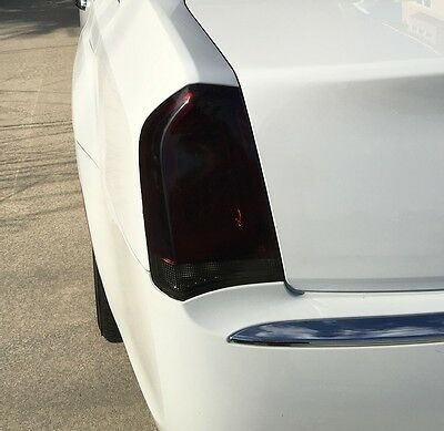 FOR 2015-2020 CHRYSLER 300 300C TAIL LIGHT PRECUT SMOKE TINT OVERLAYS