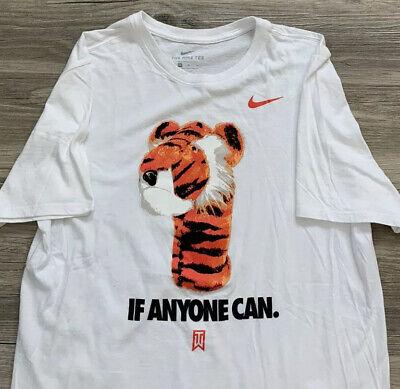 """Nike TIGER WOODS """"If Anyone Can"""" Men's Medium Tee Shirt RARE"""