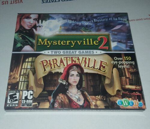 Computer Games - Mysteryville 2 AND Pirateville - NEW Fun Hidden Object Windows PC Computer Games