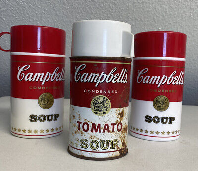 Vintage Thermos Lot of 3 Campbell's Soup Tomato Soup  Thermos