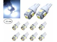 10PCS T10 Car White LED 194 168 SMD W5W Wedge Side Tail light Bulb lamp 12V DC