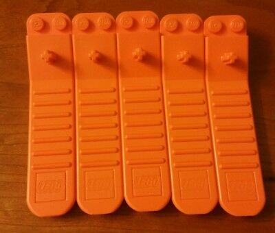 Lot Of 5 Lego Brick Separator Removal Tool Euc Design Axle Pin Disconnect Orange