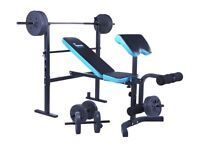 Men's Health Folding Workout Bench with 35kg Weights, Preacher Unused
