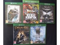 Xbox One games for sale - used once
