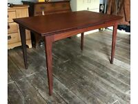 Teak Extending Draw Leaf Dining Table by Younger