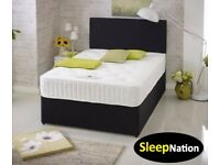DOUBLE DIVAN BED &MEMORY FOAM SPRUNG MATTRESS HUGE SALE