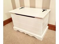 ***Small Pine Ottoman / Blanket Box-All White***ONLY £59***