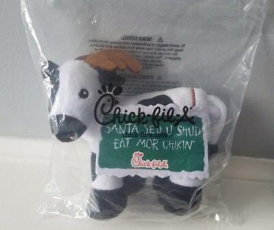 Chick Fil A Reindeer Cow Plush Santa Said U Shud Eat Mor Chikin Christmas