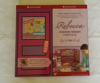 "American Girl ""Rebecca Fashion Design Portfolio"" NEW!"