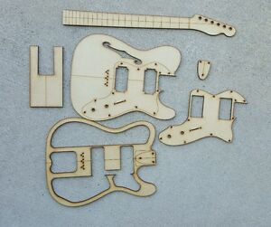 Thinline guitar template set