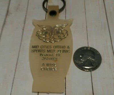 Vintage Mid-Cities Ortho & Sports Med Clinic Bedford TX Keychain Fob