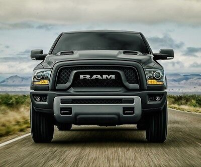 13-18 Ram 1500 Matte Black REBEL Style Conversion Grille Fits All Ram 1500