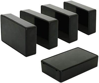 5pcs Plastic Project Case Junction Box 3.15 X 1.97 X 1.02 Black