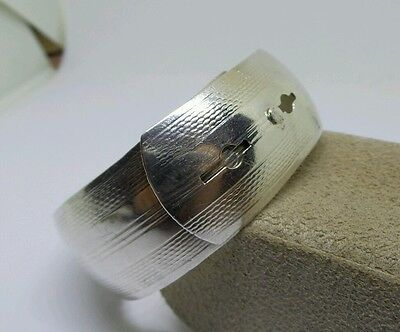 Vintage Chester 1944 Sterling Silver Wide Cuff Bangle Bracelet Buckle Style 18g