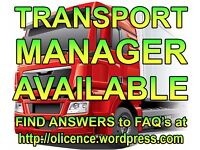 TRANSPORT MANAGER AVAILABLE -- HGV O-LICENCE -- CPC HOLDER -- TRAILERS FOR HIRE