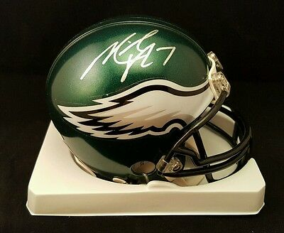 MICHAEL VICK EAGLES AUTOGRAPHED SIGNED NFL MINI HELMET - VICK HOLOGRAM - Vicking Helmet