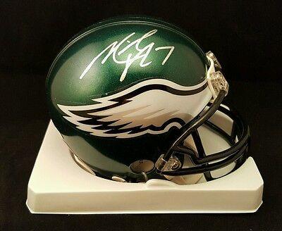MICHAEL VICK EAGLES AUTOGRAPHED SIGNED NFL MINI HELMET - VICK HOLOGRAM - Vicking Helmet
