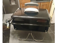Weber Go-Anywhere Gas BBQ with 2 Cannisters, Grill Cleaner and Cover - Used Once